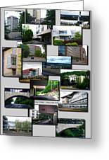 Collage Ithaca College Ithaca New York Vertical Greeting Card