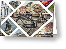 Collage Of Copenhagen  Greeting Card