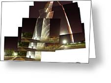 Collage Of Gateway Arch At Night Greeting Card