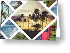 Collage Of Hawaii  Greeting Card