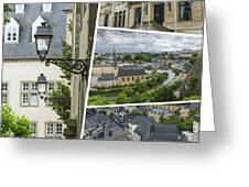 Collage Of Luxembourg Images Greeting Card