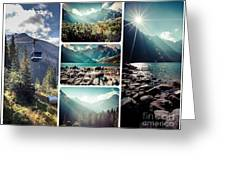 Collage Of Tatra Mountains  Greeting Card