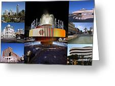 Collage Of Tel Aviv Israel Greeting Card