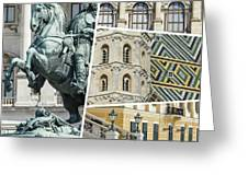 Collage Of Vienna Greeting Card