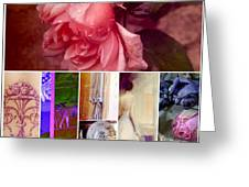 Collage So Rosey Greeting Card