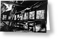 Collapsed Roof Greeting Card
