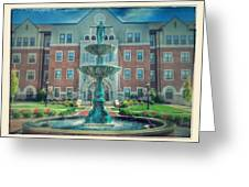 College Fountain Greeting Card