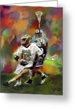 College Lacrosse 13 Greeting Card