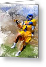 College Lacrosse Shot Greeting Card