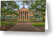 College Of Charleston Main Academic Building Greeting Card