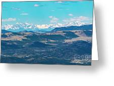 Collegiate Peaks From Little Grouse Mountain Greeting Card