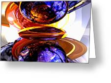 Colliding Forces Abstract Greeting Card