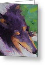 Collie Girl Siena Greeting Card