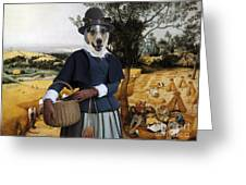 Collie Smooth - Smooth Collie Art Canvas Print - The Harvesters Greeting Card