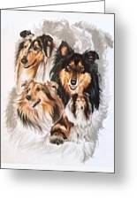 Collie W/ghost Greeting Card
