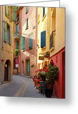 Collioure Alley Greeting Card