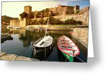 Collioure Castle Greeting Card