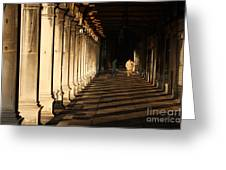 Collonade At San Marco In Venice In The Morning Greeting Card