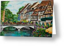 Colmar In Full Bloom Greeting Card