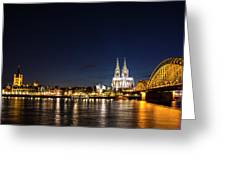 Cologne At Night Greeting Card by Alexandra-Emily Kokova