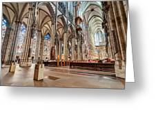 Cologne Cathedral Interior Greeting Card