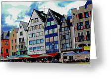 Cologne On The Rhine Greeting Card