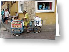 Colombia Srteet Cart II Greeting Card
