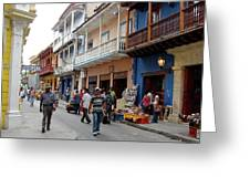 Colombia Streets Greeting Card