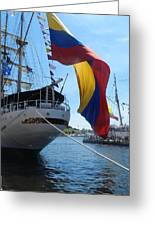 Colombian Tall Ship Greeting Card