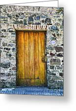 Colonia Old Door Greeting Card
