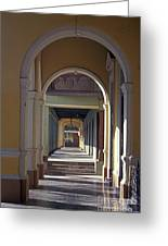 Colonial Arches Granada Nicaragua Greeting Card by John  Mitchell