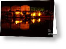 Colonial Beach Docks After Dark Greeting Card