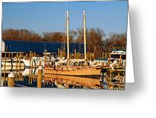 Colonial Beach Docks Greeting Card