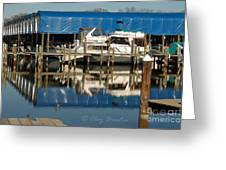 Colonial Beach Marina Greeting Card