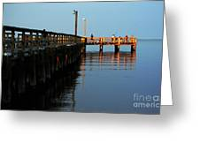 Colonial Beach Town Pier Greeting Card