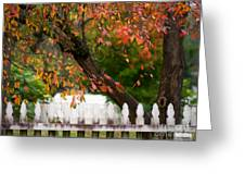 Colonial Fall Colors Greeting Card