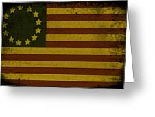 Colonial Flag Greeting Card