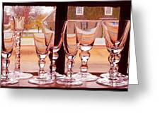 Colonial Glassware Greeting Card