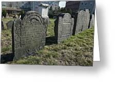 Colonial Graves At Phipps Street Greeting Card by Wayne Marshall Chase