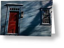 Colonial Red Door Newport Rhode Island Greeting Card