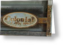 Colonial Sign Detail Greeting Card