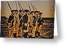 Colonial Soldiers On Parade Greeting Card