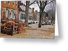 Colonial Street Scene Greeting Card