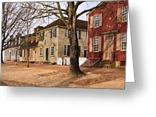 Colonial Street Scene Greeting Card