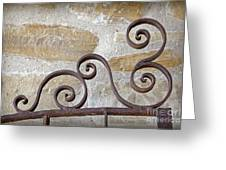 Colonial Wrought Iron Gate Detail Greeting Card