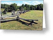 Colonial Zig Zag Fence At Booker T Washingtons Home Greeting Card