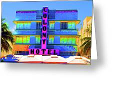 Colony Hotel Palm Greeting Card