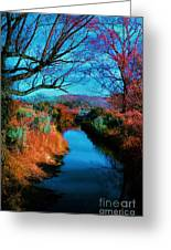 Color Along The River Greeting Card