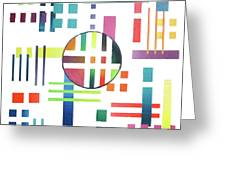Color And Form Greeting Card
