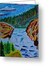 Color At The Firehole Greeting Card